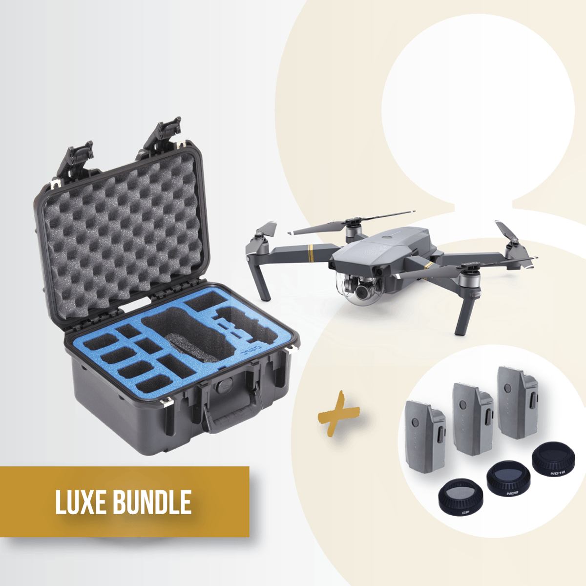 Bundle-gold-Mavic-gpc-case-hard-battery-reote-dji-lens-kit-polarpro-filters