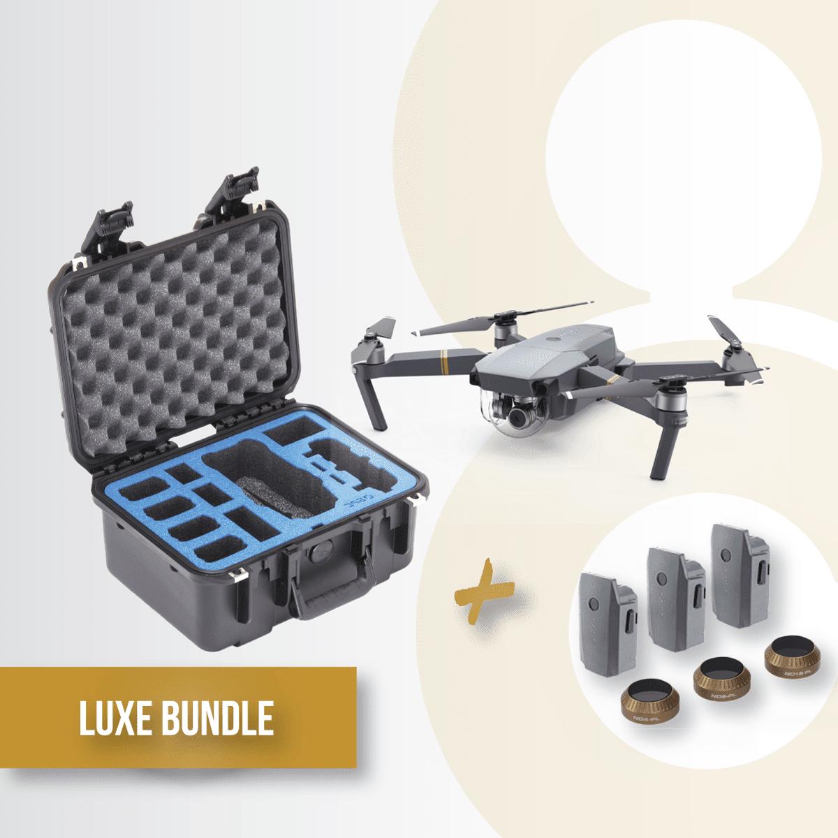 Bundle-gold-Mavic-gpc-case-hard-battery-reote-dji-lens-kit-polarpro-filters