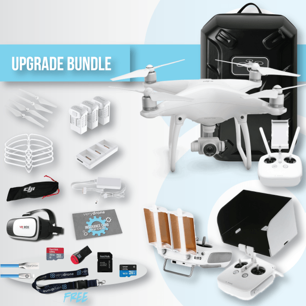 Bundle-phantom-4-DJI-batteries-remote