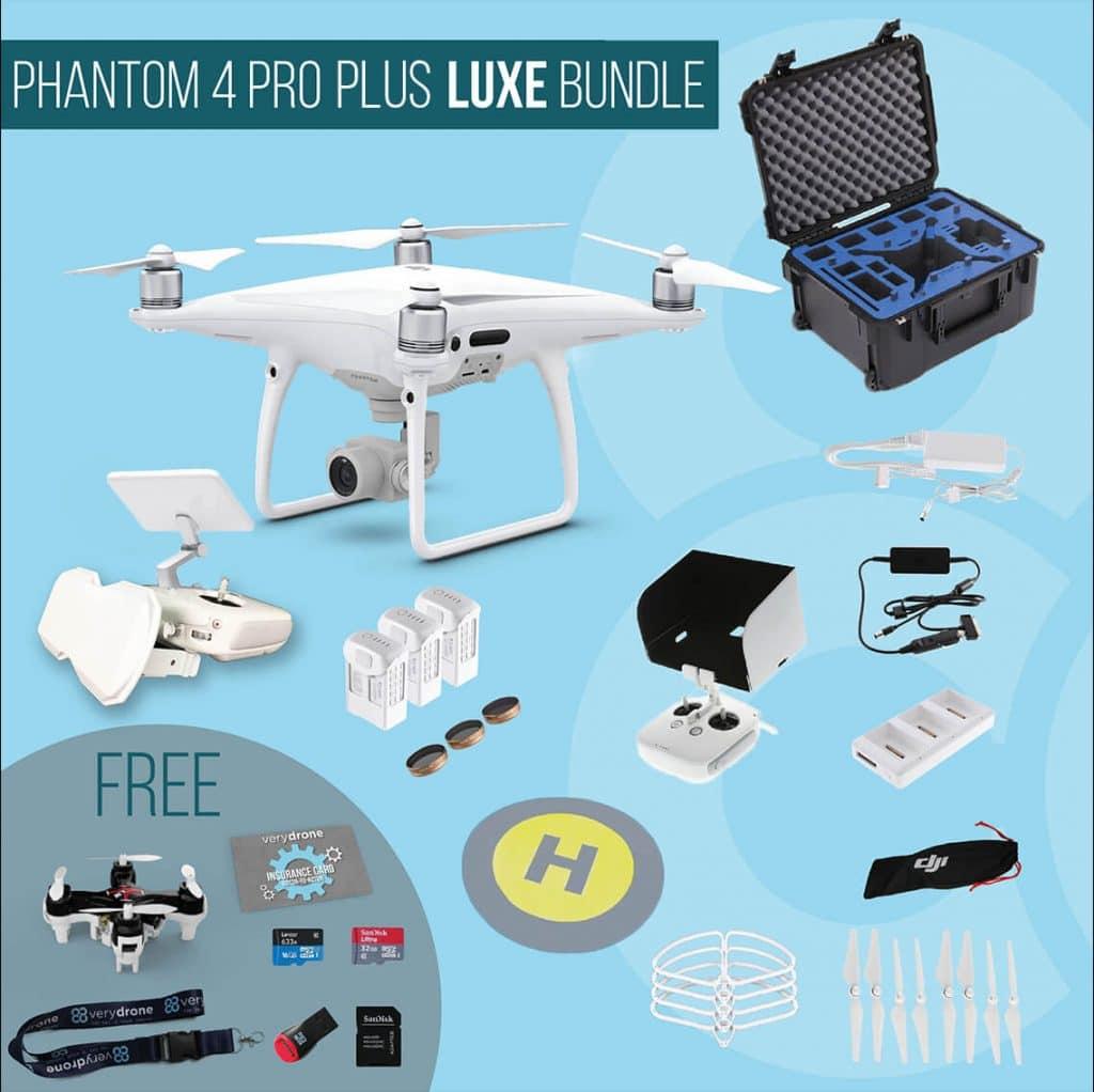 DJI Phantom 4 Pro Plus with screen remote controller - Luxe Bundle