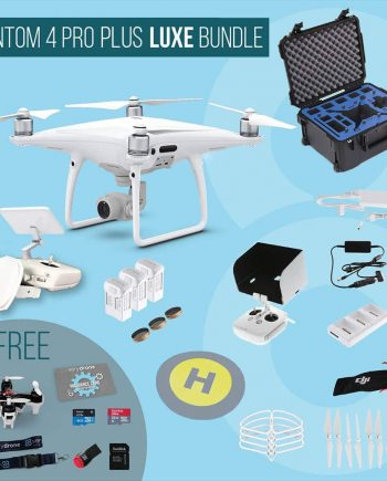 DJI Phantom 4 Pro Plus with screen remote controller - Luxe Bundle