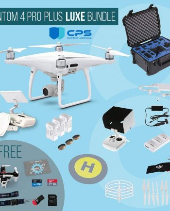 DJI Phantom 4 Pro Plus with screen remote controller - Luxe Bundle insured