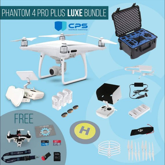 DJI Phantom 4 Pro Plus with screen remote controller – Luxe Bundle insured