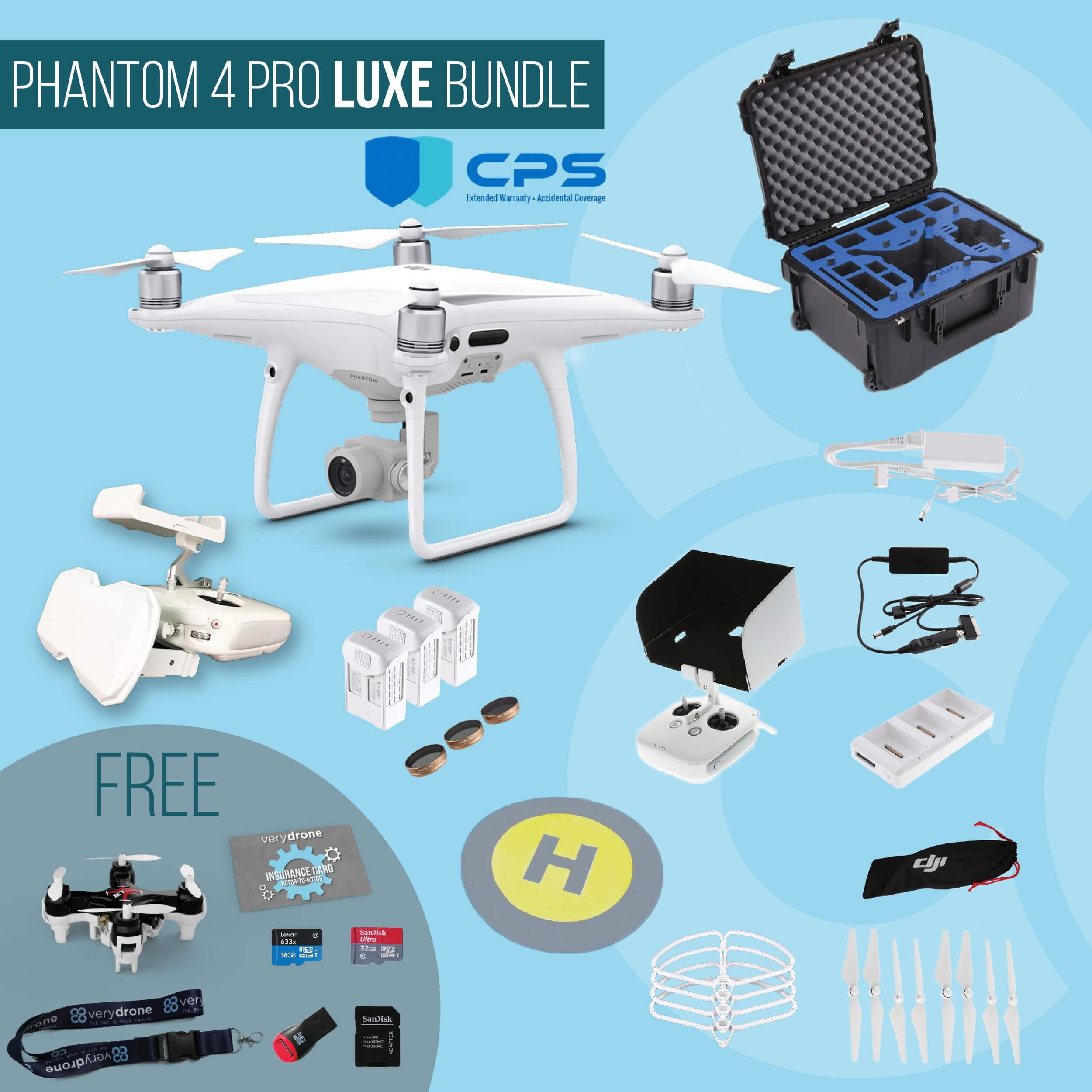 DJI Phantom 4 Pro - Luxe Bundle insured