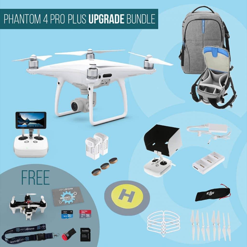 DJI Phantom 4 Pro Plus with screen remote controller - Upgrade Bundle