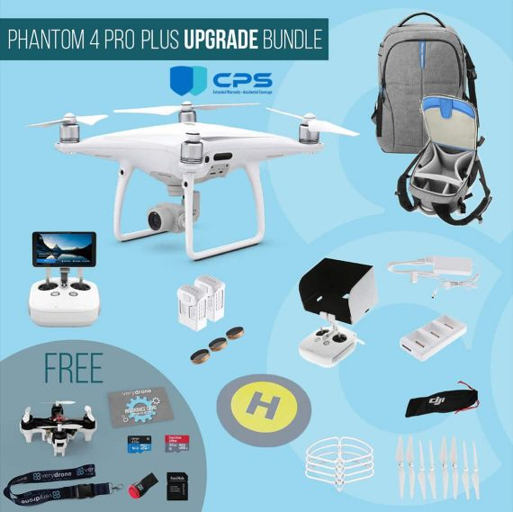 DJI Phantom 4 Pro Plus with screen remote controller – Upgrade Bundle insured