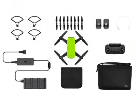 Meadow Green DJI Spark Drone - Fly More Combo