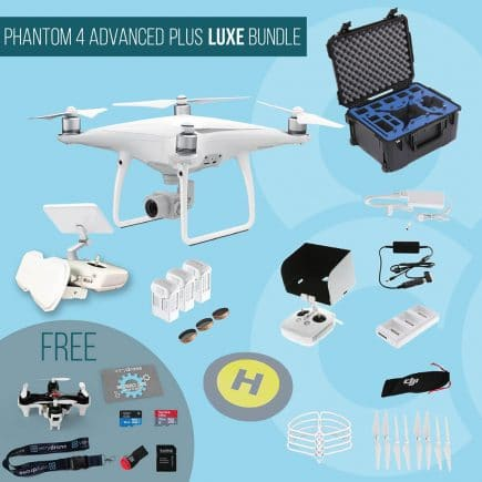 DJI Phantom 4 Advanced with remote controller with screen - Luxe Bundle insured