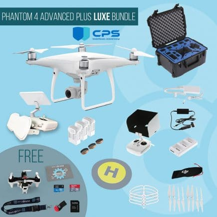 DJI Phantom 4 Advanced with remote controller with screen - Upgrade Bundle insured