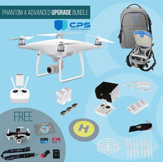 DJI Phantom 4 Advanced – Upgrade Bundle insured