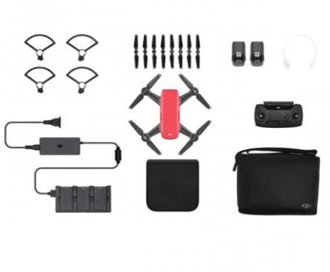Lava Red DJI Spark - Fly More Combo