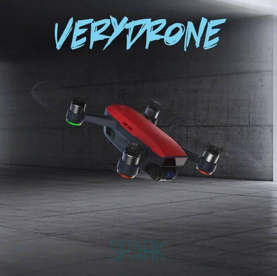 Lava Red DJI Spark Drone