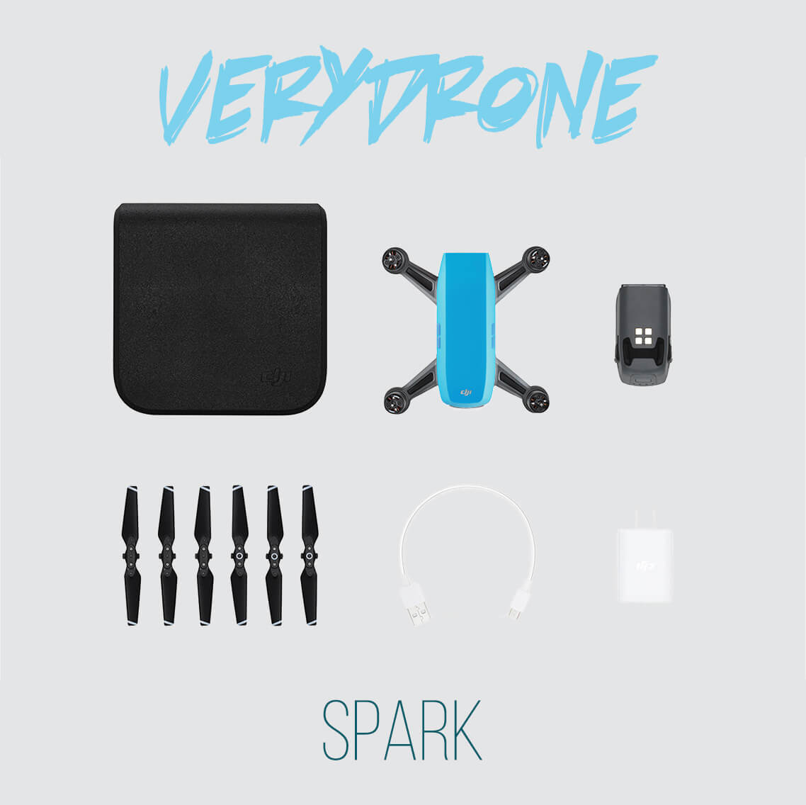 Sky Blue DJI Spark Drone
