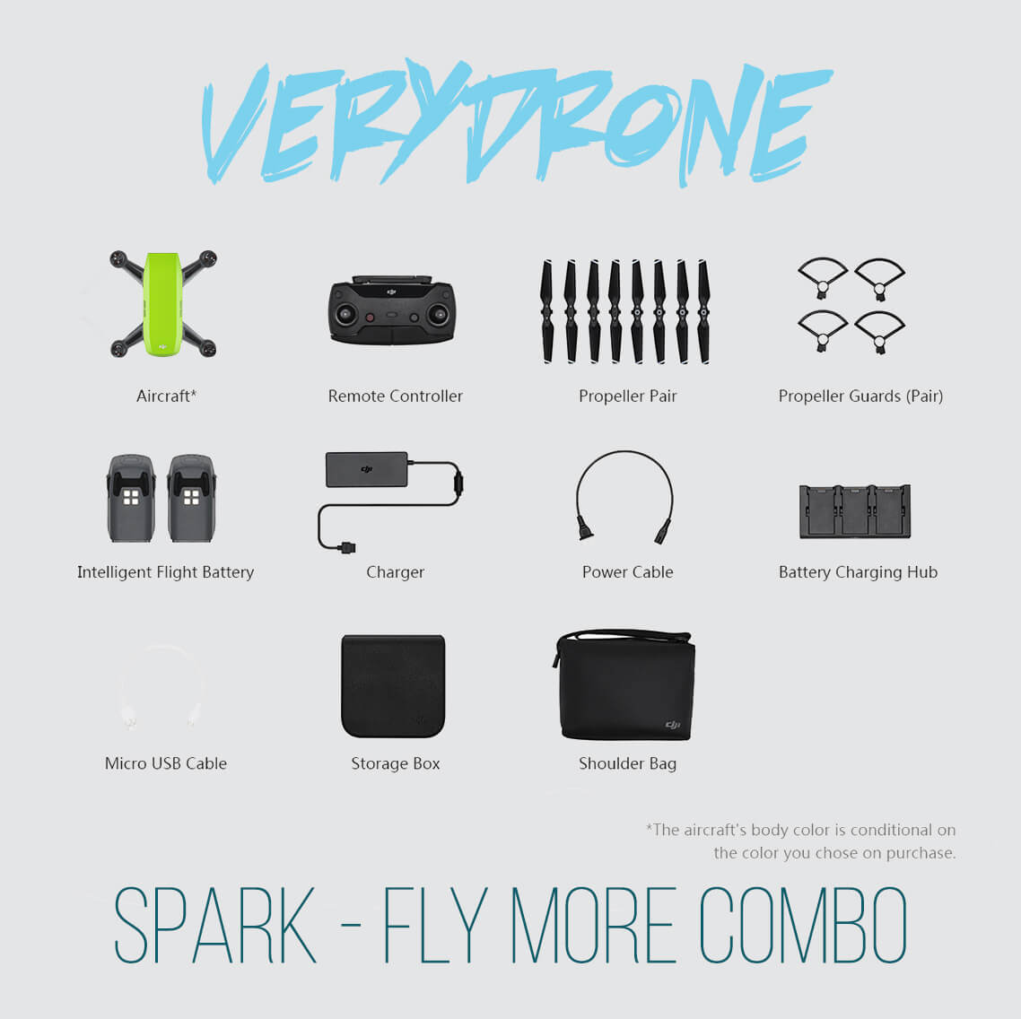 Meadow Green DJI Spark Drone